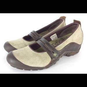 Merrell Plaza Bandeau dark taupe Mary Jane shoes